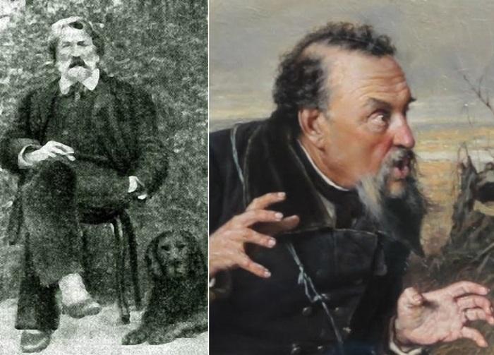 Слева – Д. Кувшинников. Справа – центральный персонаж *Охотников на привале* | Фото: caoinform.ru и regnum.ru