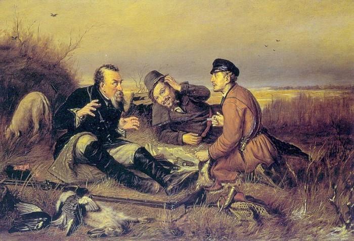В. Перов. Охотники на привале, копия 1877 г. | Фото: liveinternet.ru