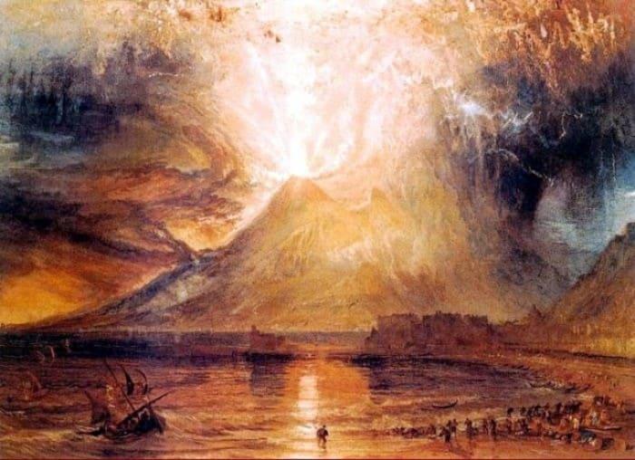 Уильям Тернер. Извержение Везувия, 1817 | Фото: marinagra.livejournal.com