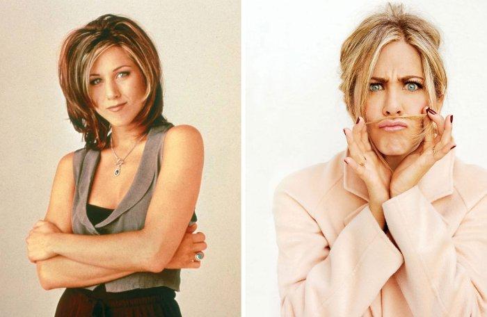 Дженнифер Энистон тогда и сейчас | Фото: 24smi.org