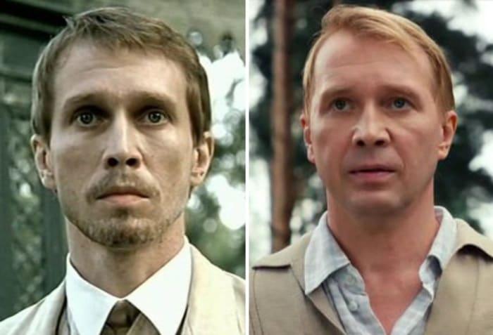 Евгений Миронов в 2003 и в 2017 гг. | Фото: kino-teatr.ru