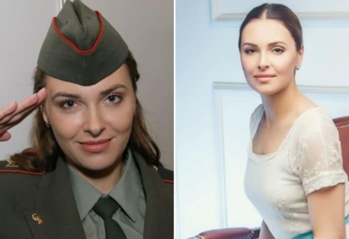 Ольга Фадеева в сериале *Солдаты* и в наши дни | Фото: 24smi.org
