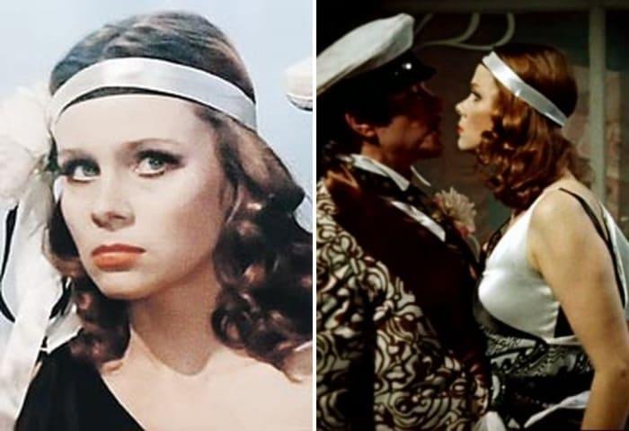 Любовь Полищук в фильме *Двенадцать стульев*, 1976 | Фото: kino-teatr.ru и kp.ru