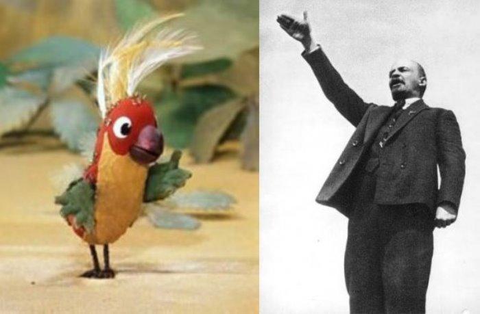 Попугай из мультфильма и его прототип | Фото: uainfo.org