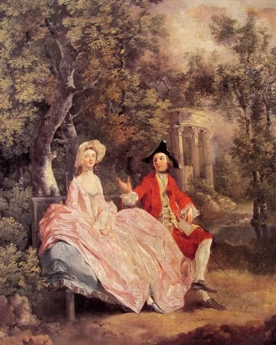 Томас Гейнсборо. Беседа в парке, 1745-1746