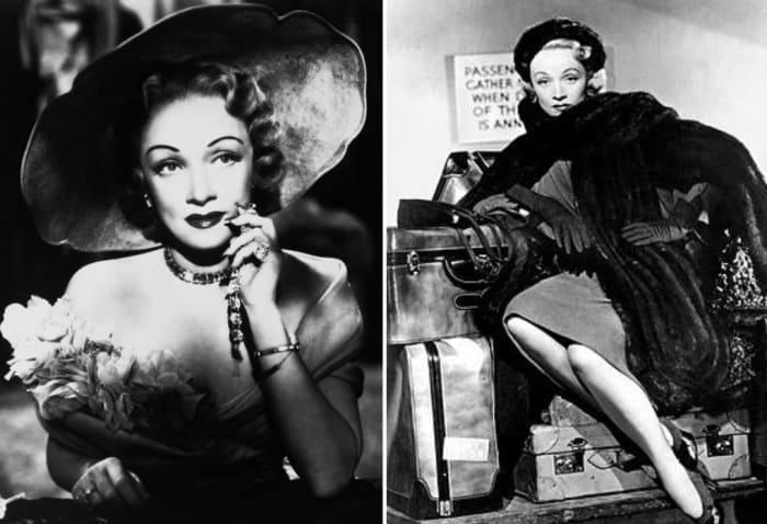 Марлен Дитрих в фильме *Страх сцены*, 1950 | Фото: liveinternet.ru и critique-film.fr
