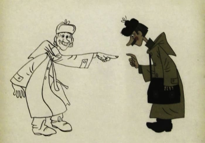 Предварительный эскиз к мультфильму *Трое из Простоквашино* | Фото: liveinternet.ru