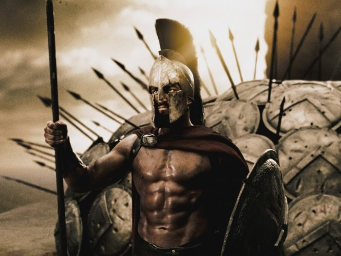 Кадр из фильма *300 спартанцев*, 2006