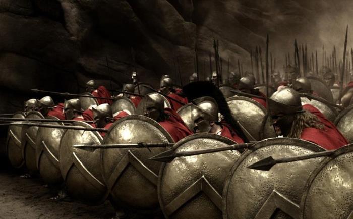 Строй спартанцев