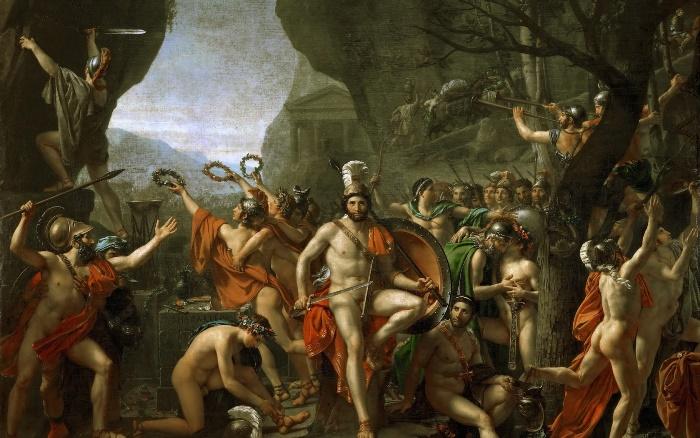 Жак-Луи Давид. Битва при Фермопилах, 1814