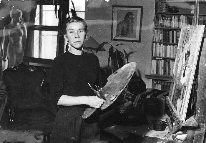 Туве Янссон в мастерской, 1956 | Фото: daily.afisha.ru