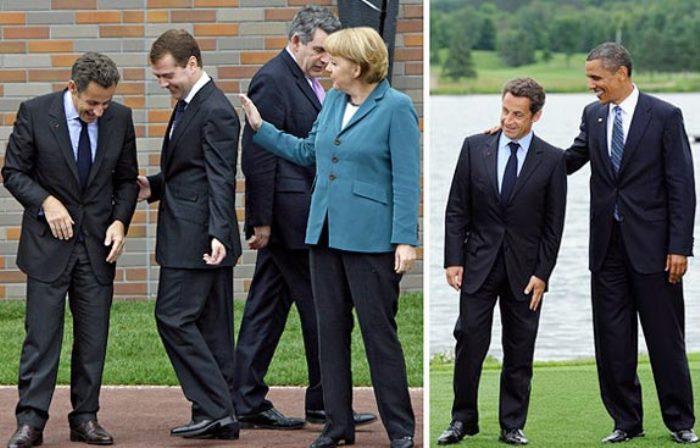 Николя Саркози, Дмитрий Медведев, Ангела Меркель, Барак Обама