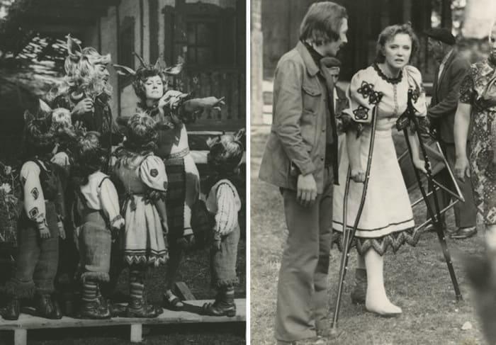 Людмила Гурченко во время съемок фильма *Мама*, 1976 | Фото: wday.ru