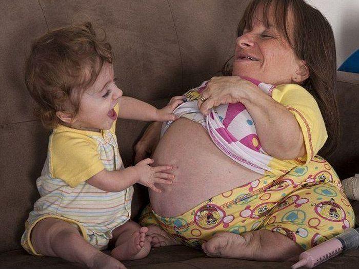 Самая миниатюрная в мире мама Стейси Херальд