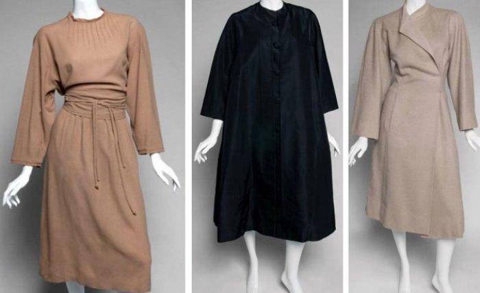 Платье и пальто Valentina, принадлежавшие Грете Гарбо | Фото: names.ru