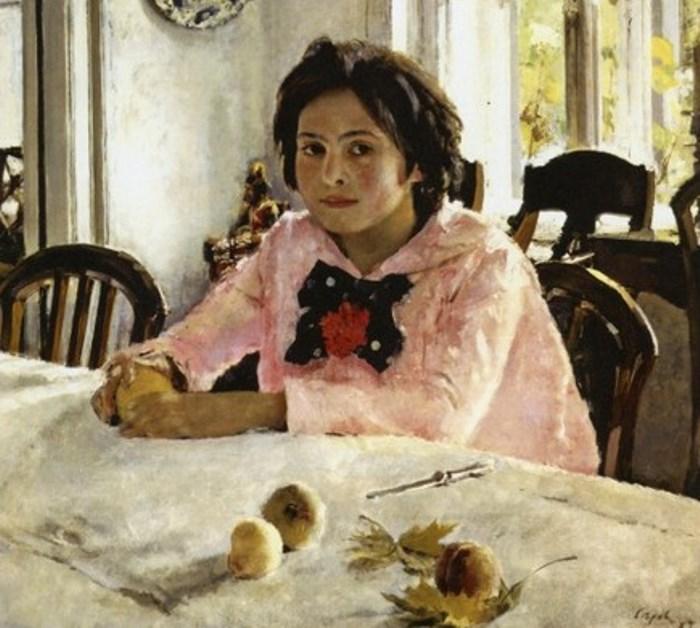 Валентин Серов. Девочка с персиками, 1887. Фрагмент