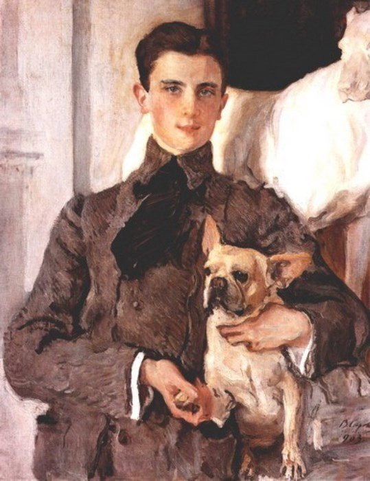 Валентин Серов. Портрет графа Сумарокова-Эльстон с собакой, 1903