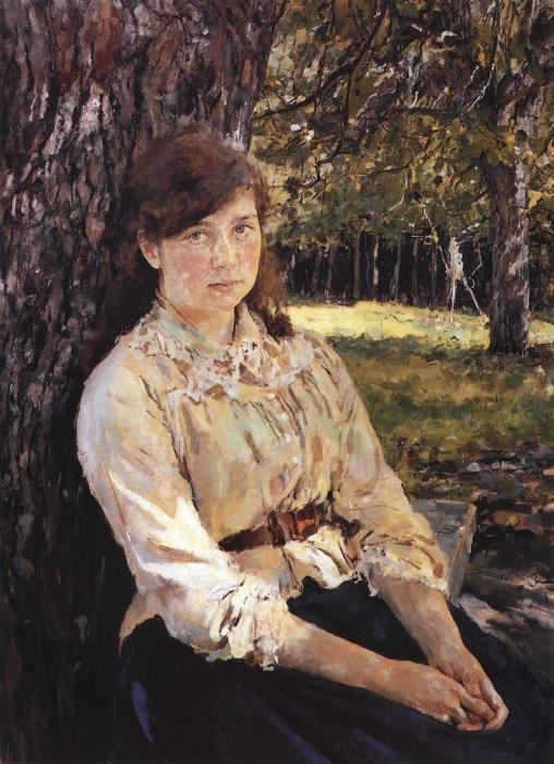 Валентин Серов. Девушка, освещенная солнцем, 1888