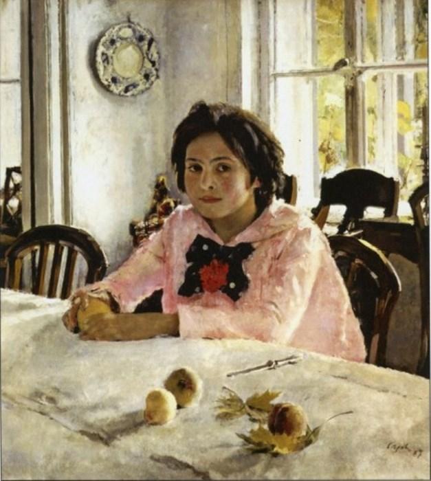 Валентин Серов. Девочка с персиками, 1887