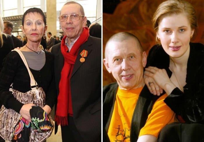 Актер с женой Тамарой и актрисой Ириной Линдт | Фото: kino-teatr.ru, stuki-druki.com