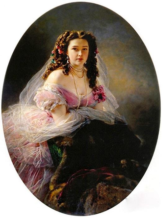 Ф. К. Винтерхальтер. Портрет В. Д. Римской-Корсаковой, 1858 | Фото: art.mirtesen.ru