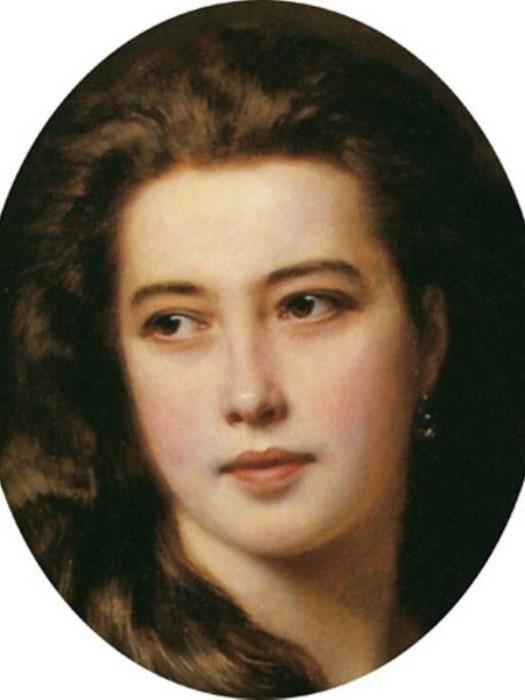 Ф. К. Винтерхальтер. Портрет В. Д. Римской-Корсаковой, 1864. Фрагмент | Фото: art.mirtesen.ru