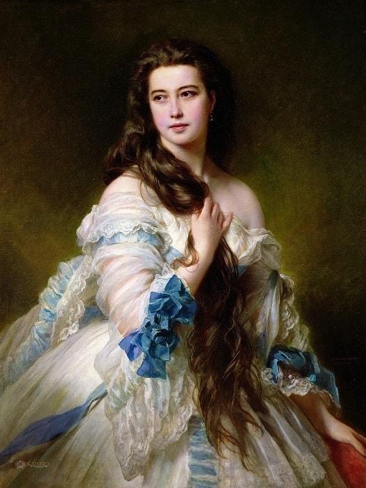 Ф. К. Винтерхальтер. Портрет В. Д. Римской-Корсаковой, 1864 | Фото: art.mirtesen.ru