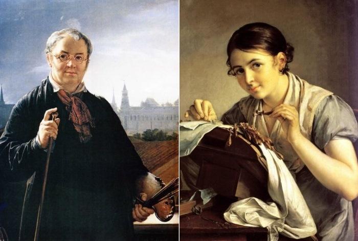 Василий Тропинин и одна из его самых известных работ – *Кружевница*