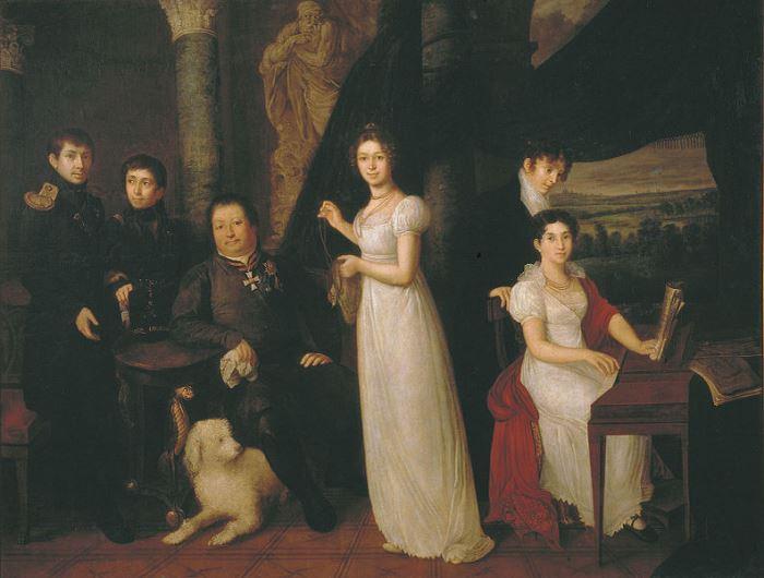В. Тропинин. Семейный портрет Морковых, 1813