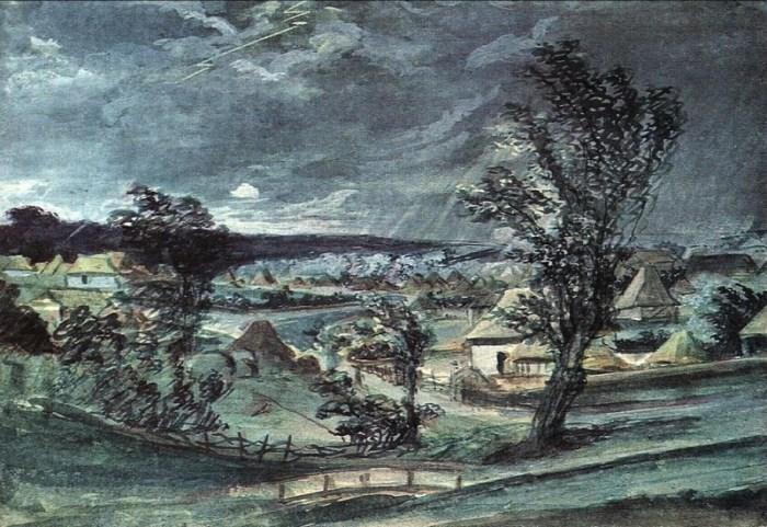 В. Тропинин. Гроза над рощей, 1818-1821