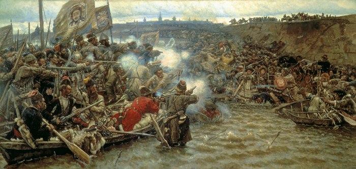 В. Суриков. Покорение Сибири Ермаком, 1895