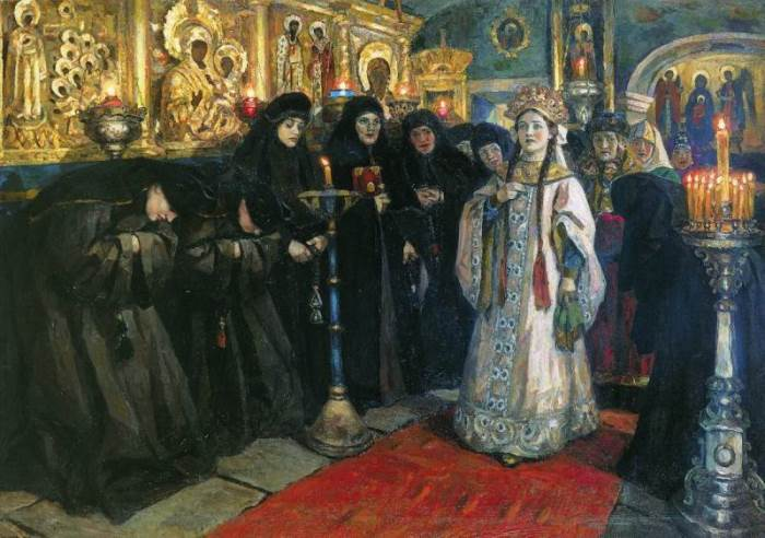 В. Суриков. Посещение царевной женского монастыря, 1912