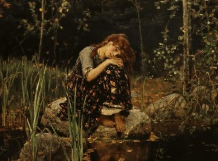 Виктор Васнецов. Аленушка, 1881. Фрагмент