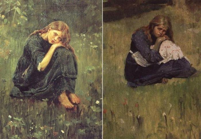 Виктор Васнецов. Ðтюды к картине «Аленушка», 1881