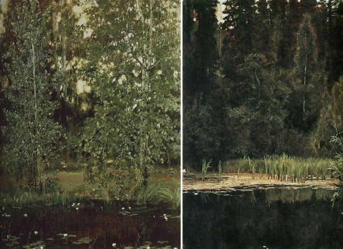 Виктор Васнецов. Пруд в Ахтырке. Аленушкин пруд, 1880