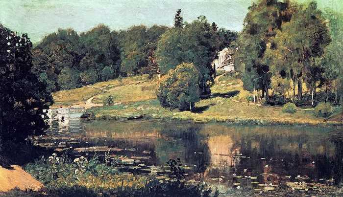 Аполлинарий Васнецов. Ахтырка. Вид усадьбы, 1894
