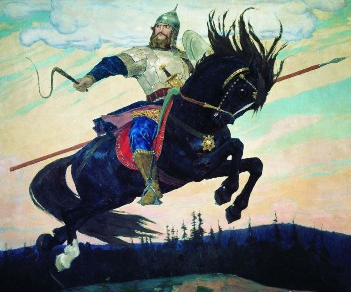 В. Васнецов. Богатырский скок, 1914 | Фото: artchive.ru
