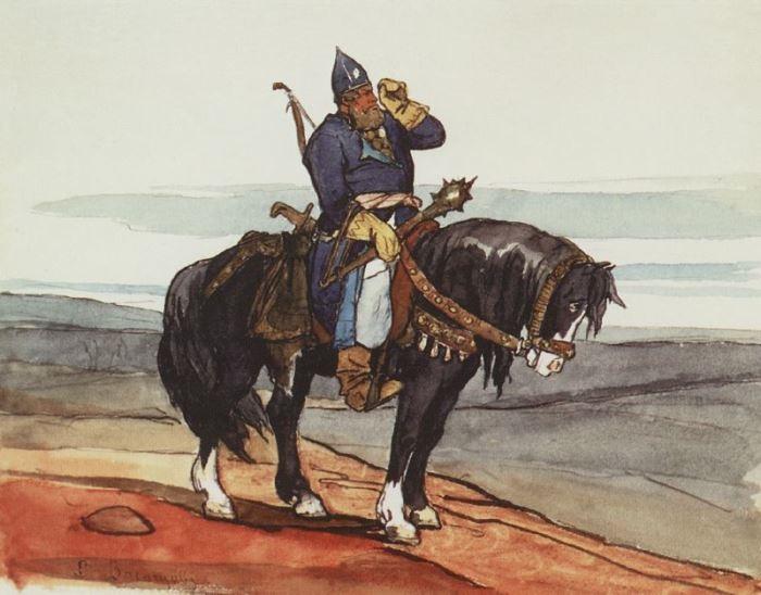 В. Васнецов. Богатырь, 1870   Фото: muzei-mira.com