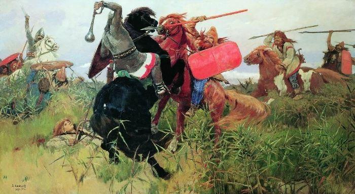 В. Васнецов. Битва скифов со славянами, 1881   Фото: artchive.ru