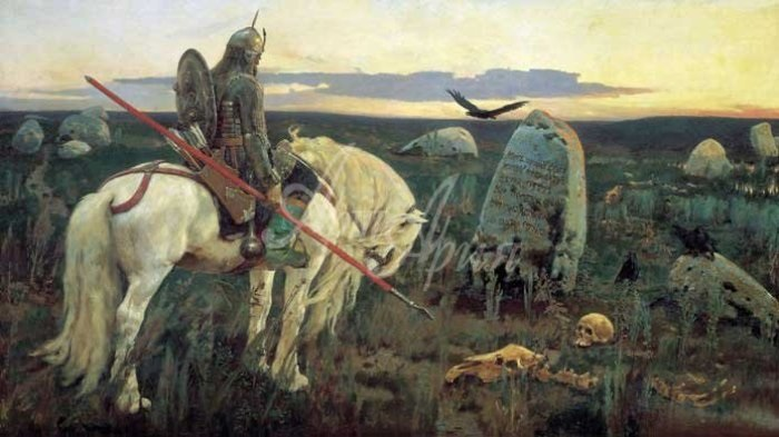 В. Васнецов. Витязь на распутье, 1882   Фото: muzei-mira.com