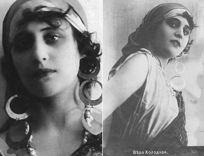 Вера Холодная в фильме *Последнее танго*, 1918