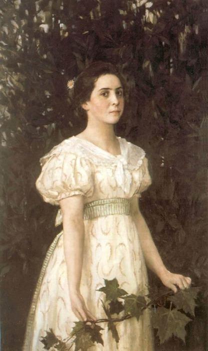 В. Васнецов. Девушка с кленовой веткой, 1896 г.