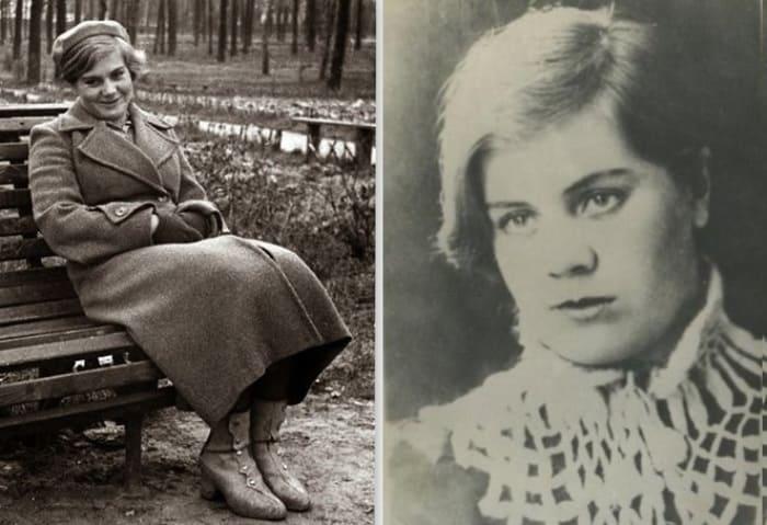 Вера Волошина, 1940 и 1941 гг.   Фото: m24.ru
