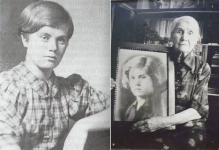Героиня войны и ее мать с портретом дочери   Фото: dnevniki.ykt.ru