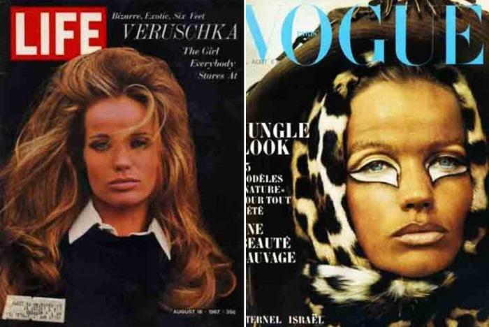 Верушка на обложках модных журналов