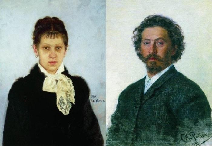 Репин И.Е. Слева – В.А. Репина, 1876. Справа – Автопортрет, 1887 | Фото: artcontext.info