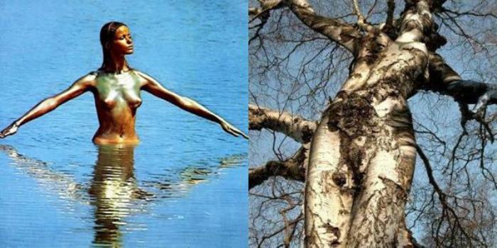 «Стать голой материей»: смелый боди-арт от супермодели 1960-х Верушки фон Лендорф