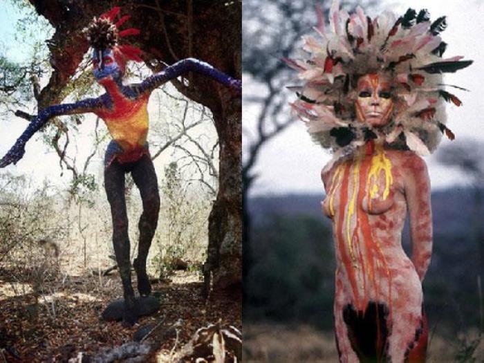 Боди-арт, навеянный дикой природой Африки