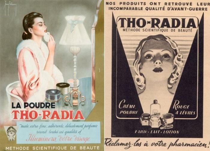 Радиоактивная косметика бренда *Tho-Radia*