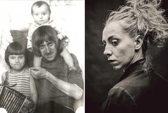 Виктор Авилов с детьми и его младшая дочь Ольга, которая стала актрисой   Фото: veasy.ru